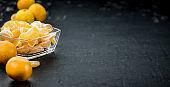 Raw Tangerines (close-up shot)
