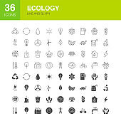 Ecology Line Web Glyph Icons