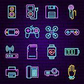 Gadget Neon Icons