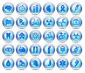 Medical Healthcare Icons Collection, Symbols on a roundel