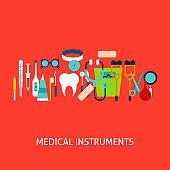 Medical Instruments Vector Concept