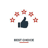 Best Choice icon in two colors. Creative black and red design from e-commerce icons collection. Pixel perfect simple best choice icon for web design, apps, software, print usage
