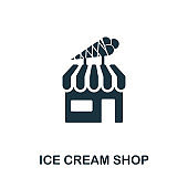 Ice Cream Shop icon. Creative element design from icons collection. Pixel perfect Ice Cream Shop icon for web design, apps, software, print usage