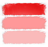 Coral pink brushstroke with frame illustration template.