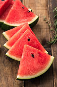 Water melon on wooden