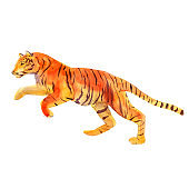 Watercolor illustration tiger, hand drawn animal, isolated object on white background.