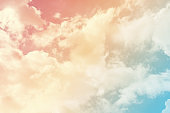 cloud background with a pastel colored