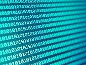 Matrix cyber technology background. Code hacking concert.