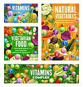 Vegetarian food vitamins in vegetables