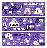 Cryptocurrency cloud mining, blockchain data