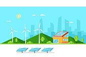 Eco friendly modern house