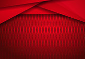 Red Modern Technology Design Background with dots Texture. pattern design modern luxury futuristic creative idea background.
