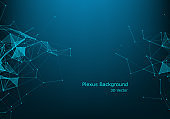 Abstract technology background. Science background. Big data. Background vector. Plexus effect. Network connection structure. Vector illustration.