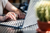 woman working in a home office - social media influence, blogger, vlogger, freedom
