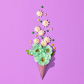 Ice Cream Cone with Colorful Candies