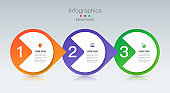 Infographics design vector paper art style and business icons with 3 options.