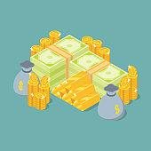 Isometric money