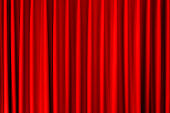 closed red velvet curtain - use for background