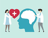 Mental health and disorder illustration