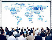 Global Business People Corporate Conference Seminar Growth Concept