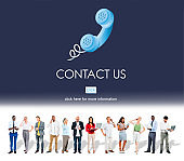 Contact Us Customer Care Assistance Help Service Concept