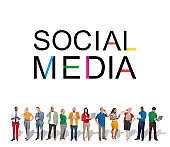 Social Media Technology Global Communication Concept