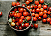 Fresh organic red cherry tomatoes