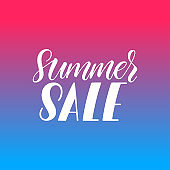 Summer sale calligraphy