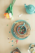 Spring and Easter table decor
