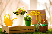Beautiful Easter flower arrangement