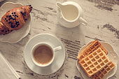 Breakfast and coffee