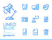 Lineo blue icon