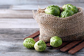 Fresh organic brussels sprouts