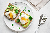 Avocado Sandwiches with Poached Eggs