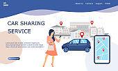 Illustration for car sharing service.