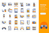 Modern flat design icons set of Device and Hardware . 48x48 Pixel Perfect icon. High-quality Flat icon design.