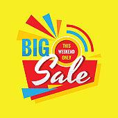 Big sale - concept vector banner design. Discount creative badge.
