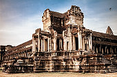 View of the Outer Gallery of Angkor Wat, Cambodia