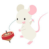 mouse play spinning top