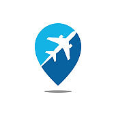 Modern Airplane Traveling Cargo Freight Icon