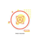 TARGET AUDIENCE icon, creative icon, icon unique concept, new generation, modern icon, Target Market Icon, Retail Space, customers icon