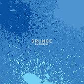 abstract background, brush texture vector, brush splash, grunge blue background, brush splatter