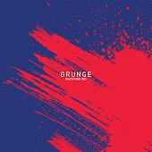 brush splash blue and red, grunge background, abstract background, brush texture vector, brush splatter
