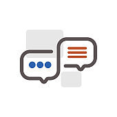 chat bubble icon, chatting, message icon, Chat icon, Asking, Badge, Blank, Circle, Speech Bubble, White Background, Badge, chat icon outline vector