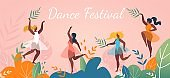 Music Dance Festival Abstract Poster Event Design