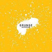 grunge yellow background, abstract background, brush texture vector, brush splash, brush splatter