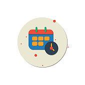 Calendar and Clock Icon, Events calendar, Countdown, Internet icon, Calendar, Personal Organizer, Icon, Clock, Diary, Message, Personal Organizer, Plan