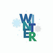 winter typography, winter background banner, season creative vector background, abstract background