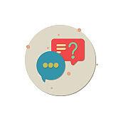 chat icon, Speech, Bubble, Internet, Sign, Single Word, Speech bubbles Icon vector flat design, Speech, India, Discussion, Talking, Icon, creative icon, Message,  icon