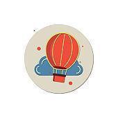 discover, Travel landmark concept vector illustration, Hot Air Balloon, Adventure, Balloon, Basket, Business, travel world icon vector,creative icon
